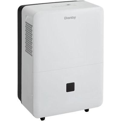 Danby 70 Pint Dehumidifier with 2 Fan Speeds & 4500 sqft Application in White