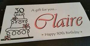 Image Is Loading PERSONALISED GIFT MONEY WALLET CARD CAKE DESIGN BIRTHDAY