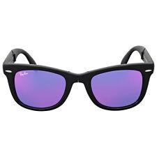 Ray Ban Wayfarer Folding Flash Violet Mirror Sunglasses RB4105 601S1M 50
