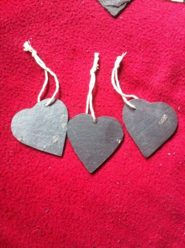 85 XSlate Heart Wedding Favours Hanging Name Tag Label Place  Markers 6cm