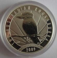 2009 AUSTRALIEN KOOKABURRA, 1 OZ BU/ST SILBER, IN ORIGINAL PERTH MINT KAPSEL