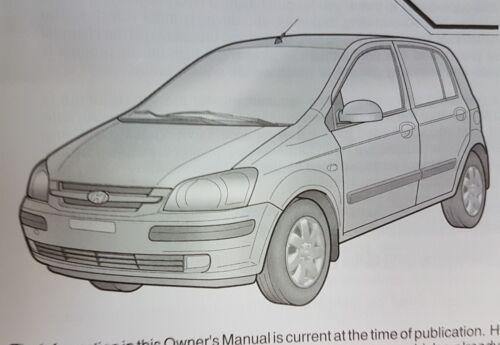 HYUNDAI GETZ OWNERS MANUAL HANDBOOK WALLET 2002-2005 PACK K-93