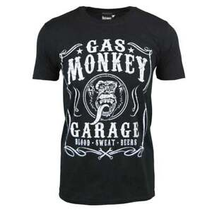 Details about Official Mens Gas Monkey Garage Blood Sweat & Beers T Shirt Black NEW