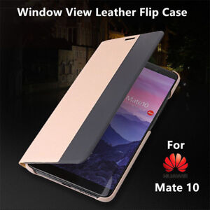 free shipping 616bd 1d1a3 Details about Smart View Window Flip PU Leather Case For Huawei Mate 10 Pro  Wake Up Full Cover