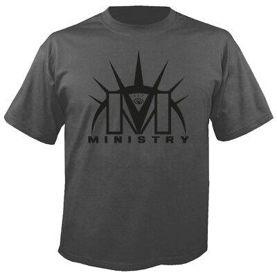 WunderschöNen Ministry - Logo Grey T-shirt Gutes Renommee Auf Der Ganzen Welt