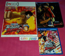 ONE PIECE BURNING BLOOD PS VITA NEUF + STEELBOOK + ARTBOOK INSIDE 96 PAGES