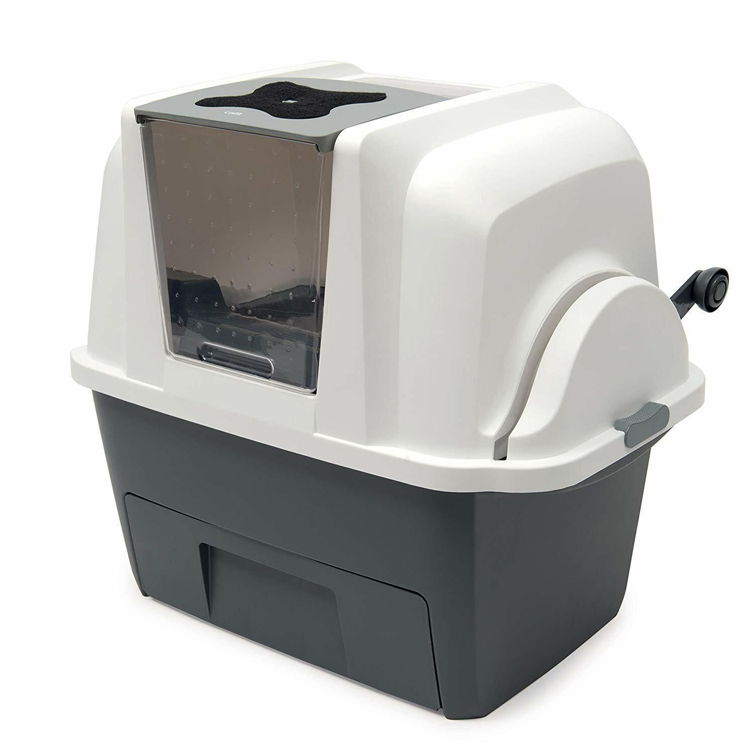 Self Cleaning Cat Litter Box Automatic Pan Lid Cover Multiple Kitty Clumping