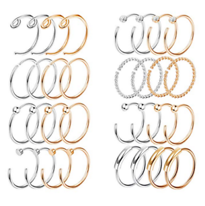 20G-2-32PCS-Nose-Ring-Set-Stainless-Steel-Lip-Ear-Hoop-Body-Piercing-Jewelry