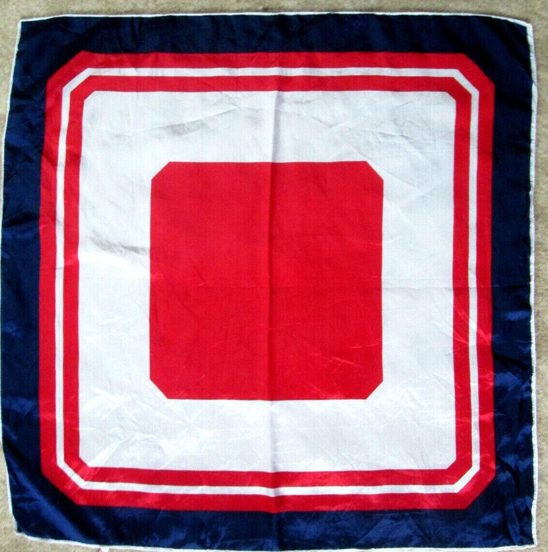 - foulard acétate TBEG vintage scarf 66 x 67 cm