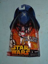 Star Wars Revenge of the Sith Clone Trooper Red Quick-draw Attack MOSC
