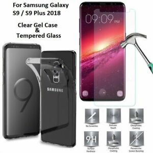Slim-Silicone-TPU-Clear-Case-Cover-amp-Screen-Protector-For-Samsung-Galaxy-S9-S10