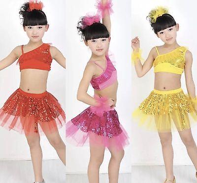 SALE Ballet Dance Dress with Skirt//Tutu Kids Leotard Pink Girl 3//4//5//6//7 UK SALE