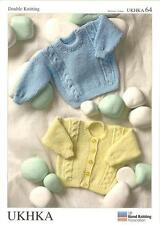 Double Knitting Pattern Cardigans Sweater Wool Also For Premature Babies 30-61cm
