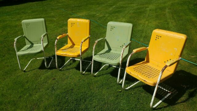 Vintage 1950 S Metal Chair Patio