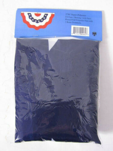 2 Pack 3x6 USA American Pleated Super-Poly Printed 2ply Flag 3/'x6/' Bunting Fan
