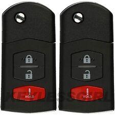 2Pcs New Uncut Flip Key Fob Keyless Remote Head key Control Transmitter SKE12501