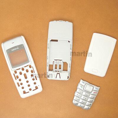 New Wihte Cover Full Housing Fascia Case For Nokia 1110i+Keypad