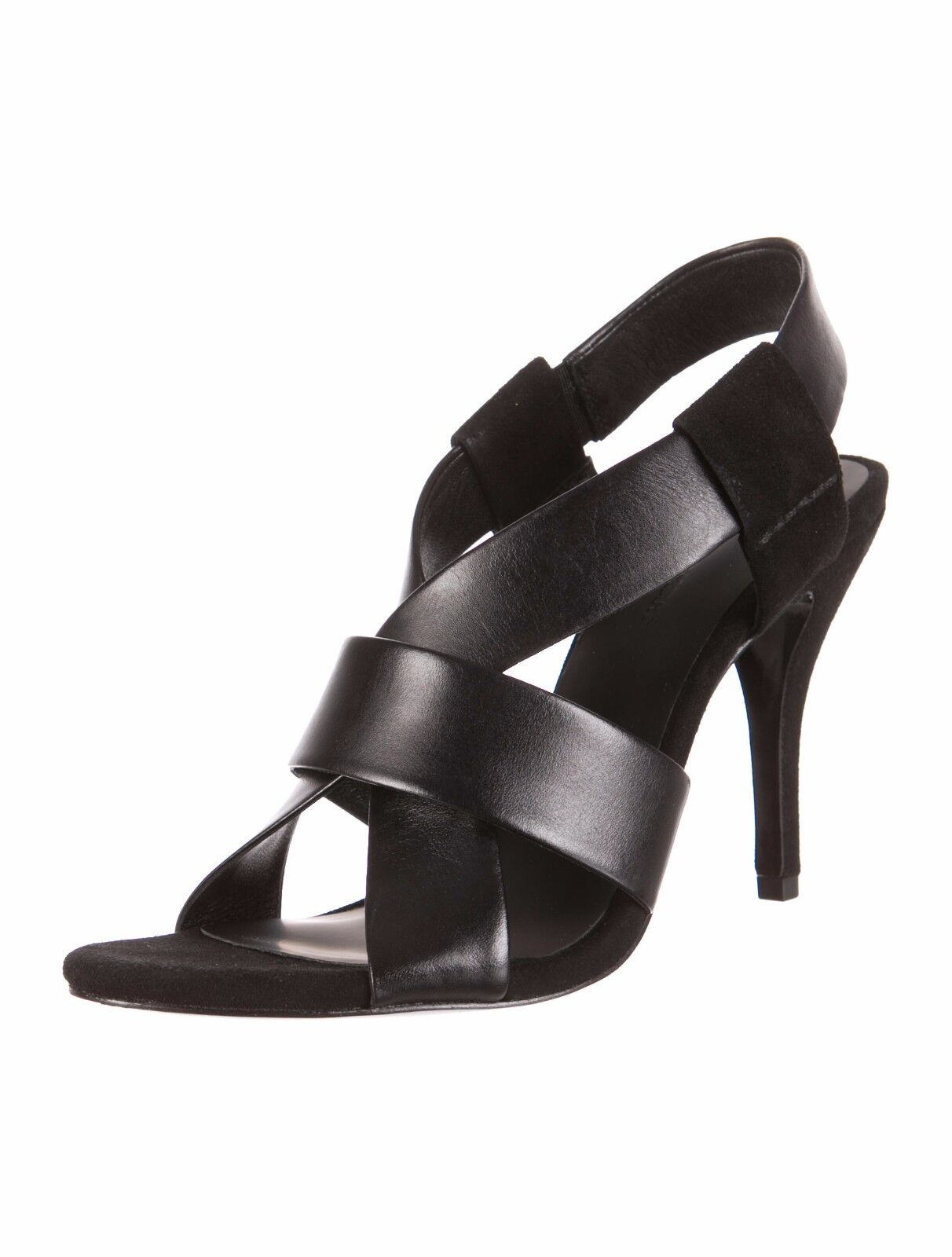 STUNNING SOLD OUT NWB ALEXANDER WANG BLACK  LILIAN  LEATHER & SUEDE HEELS