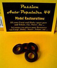 CORGI TOYS 481 : CHEVROLET IMPALA POLICE 4 pneus gravé corgi diamètre 15 / tyre