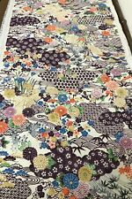 @@ 160 cm x 34 cm Japanese kimono silk fabric// smooth crepe// red PA61