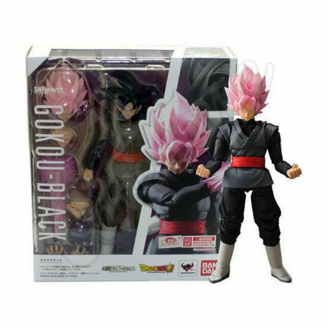 S.H.Figuarts DRAGON BALL SON GOKU Black Super GOKOU Rose PVC Figure New No Box