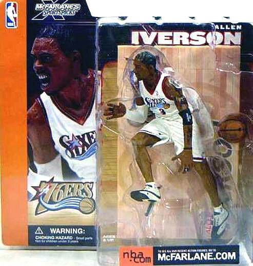 Allen Iverson Variant Action Figure  NBA Series 1 McFarlane New 2002 Amricons