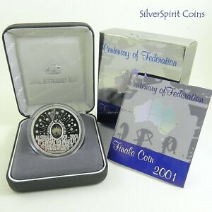 2001-FINALE-CENTENARY-OF-FEDERATION-Silver-Proof-Hologram-Coin