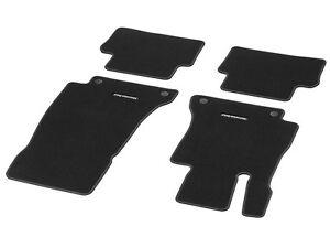 Oem genuine mercedes benz black carpeted velour floor mats for Mercedes benz glc 300 floor mats