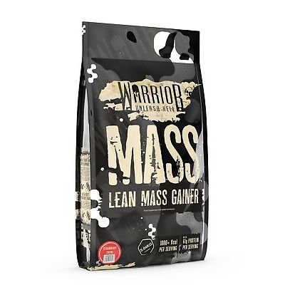 Warrior Mass 5kg Lean Muscle Mass Weight Gainer Seriously Tasty Strawberry Creme