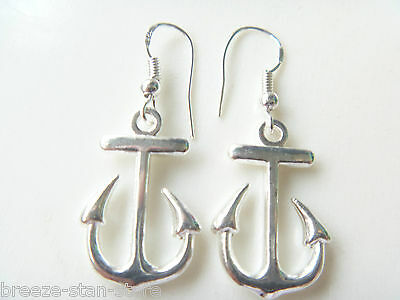 Wholesale fashion charm 12 pairs nautical anchor jewelry earrings new