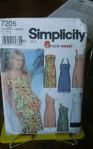 Oop-Simplicity-7205-6-made-easy-misses-summer-sundress-strapless-sz-4-10-NEW