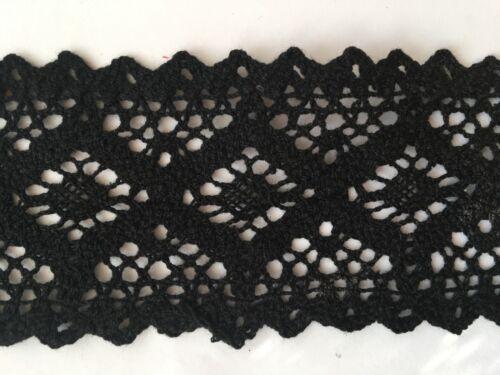 1 Yard Lace Trim Crocheted 100/% Cotton 6//6.3//6.5//7.8//8 cm Width