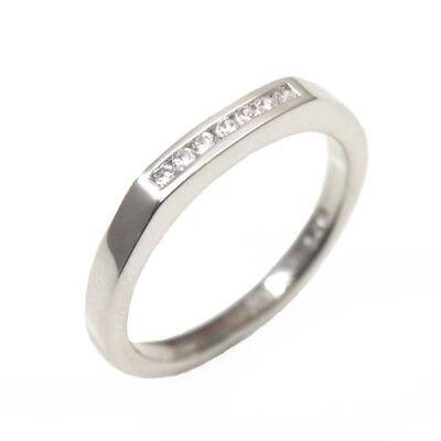 Eternity Ring Diamond Unique Solid Silver Rhodium platinum