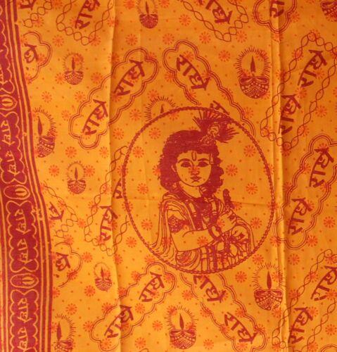 Krishna écharpe//foulard 145 x 80 cm Inde Sarong Serviette wickeltuch Benares NEUF