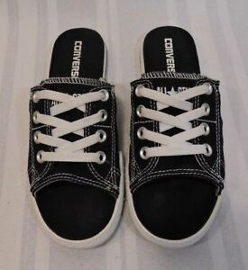 60c37a8ca9cd NEW Converse All Star Cutaway Shoes Open Toe size 6 Black White Slip ...