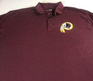 Washington-Redskins-Polo-Shirt-Mens-XL-Cotton-Polyester-Blend-NFL-Football-Golf