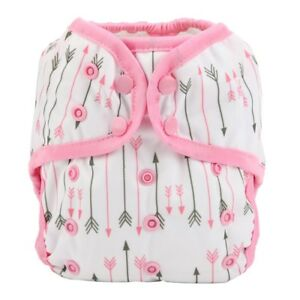 Baby-Diaper-Cover-Nappy-Cover-Double-Gussets-Reusable-One-Size-Pink-Arrow