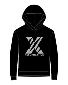 BUNDLE-Felpa-Hip-Hop-cappuccio-Resurrextion-logo-X-CD-Resurrection