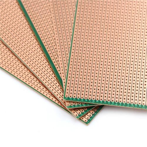 5x 6.5x14.5cm Stripboard Veroboard Uncut PCB Platine Single Side Circuit Boar P0