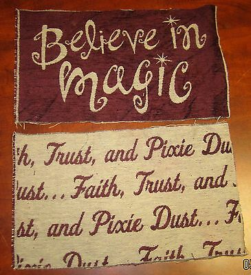 Believe In Magic Faith Pixie Dust Tapestry Pillow Top Fabric - 2 Pcs Burgandy