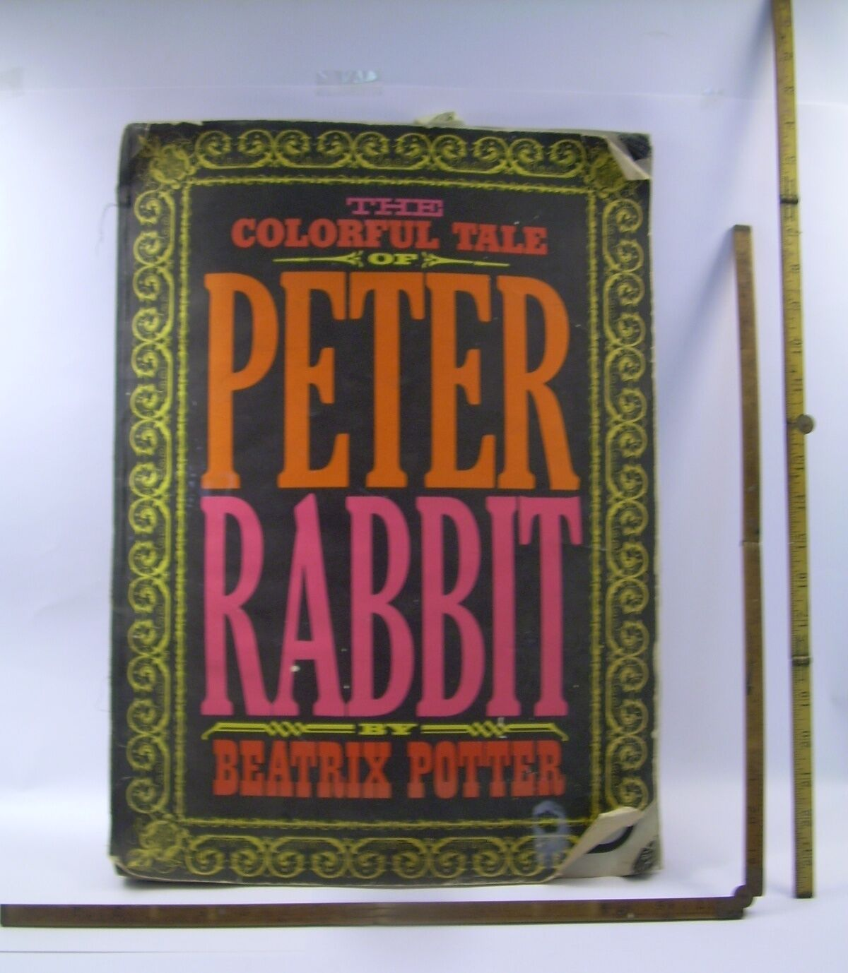 Farbeful Tale Peter Rabbit 1968 Giant FarbeING bk VINTAGE Posters Rare FOLIO ART