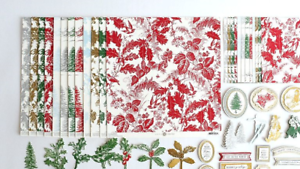 Anna Griffin Christmas Toile Cardstock and Embellishments NEW SOLD OUT 686205