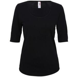 Anvil-Para-Mujer-Triblend-profundo-Scoop-1-2-Manga-Camiseta