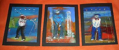 Golfer 3 Gemälde Expressionismus Golf Golfsport