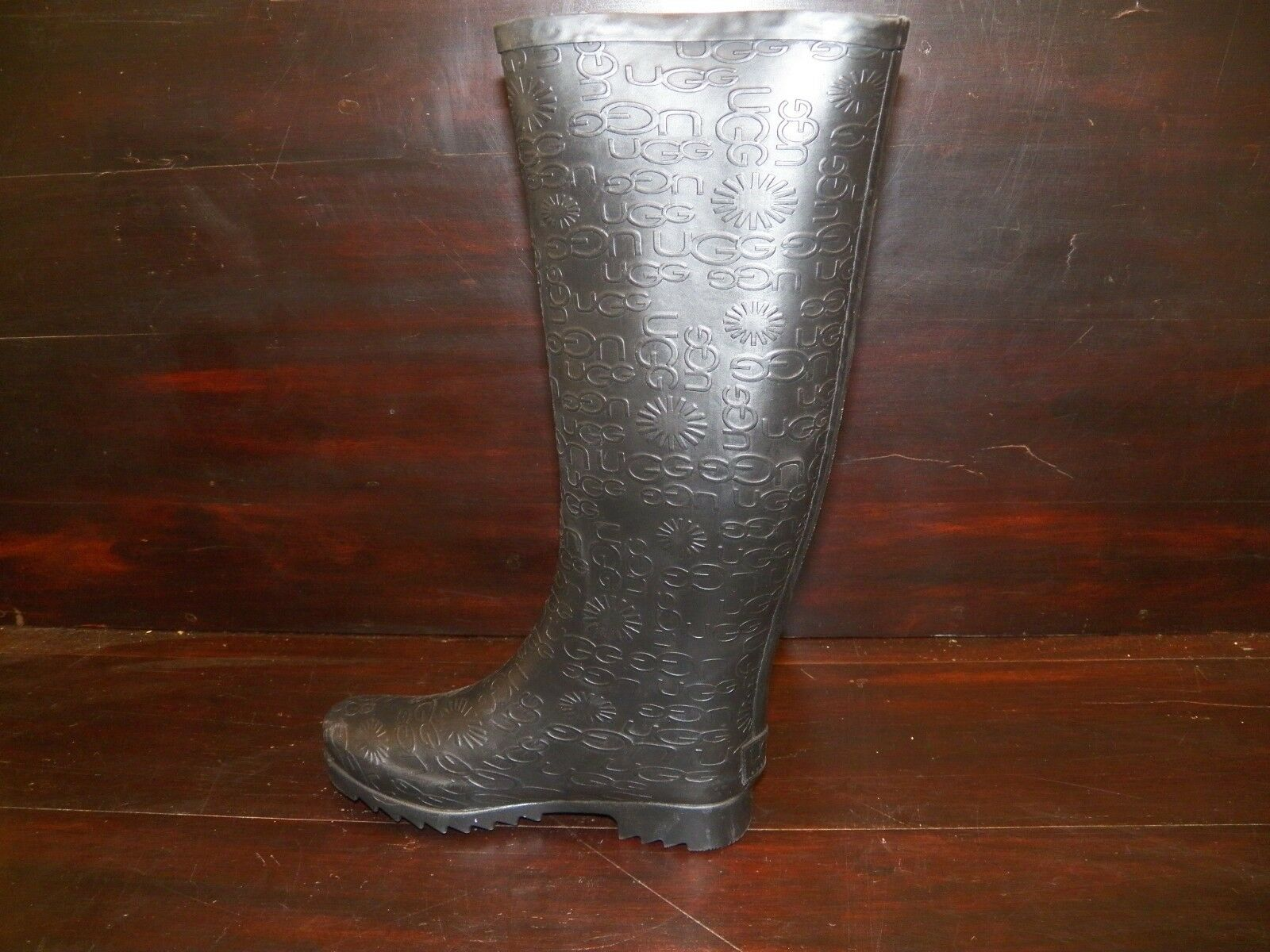 f04af87175f New Womens UGG Wilshire Logo Tall Black Rain Winter Boots Rubber All Sizes