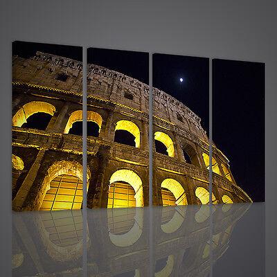 Quadro moderno Stampa su tela Cm 166x90 Quadri Moderni 5 Pz Canvas XXL Colosseo
