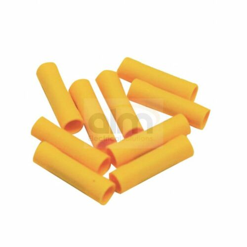 YELLOW BUTT TYPE CRIMP CONNECTORS X 50 WIRE WIRING CRIMPS 2.5-6MM CABLE