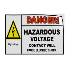 Decal Stickers Danger Hazardous Voltage Electric Shock Safety Store Sign Label