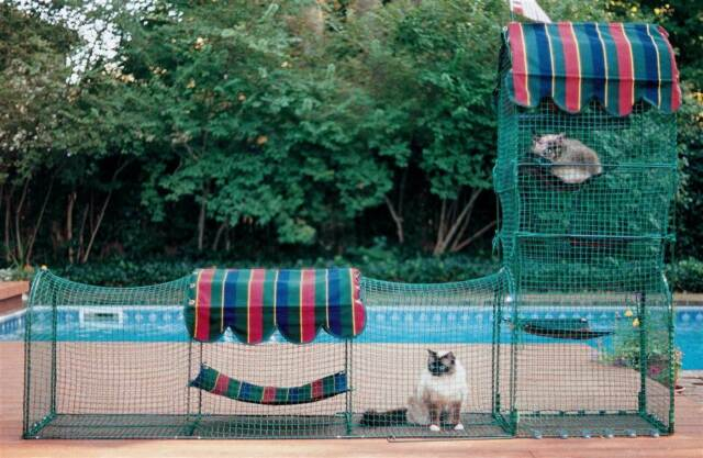 KittyWalk Town and Country Outdoor Playground Cat Pet Enclosure