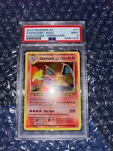 PSA 9 MINT Charizard 11/108 PRERELEASE Evolutions HOLO RARE Pokemon Card